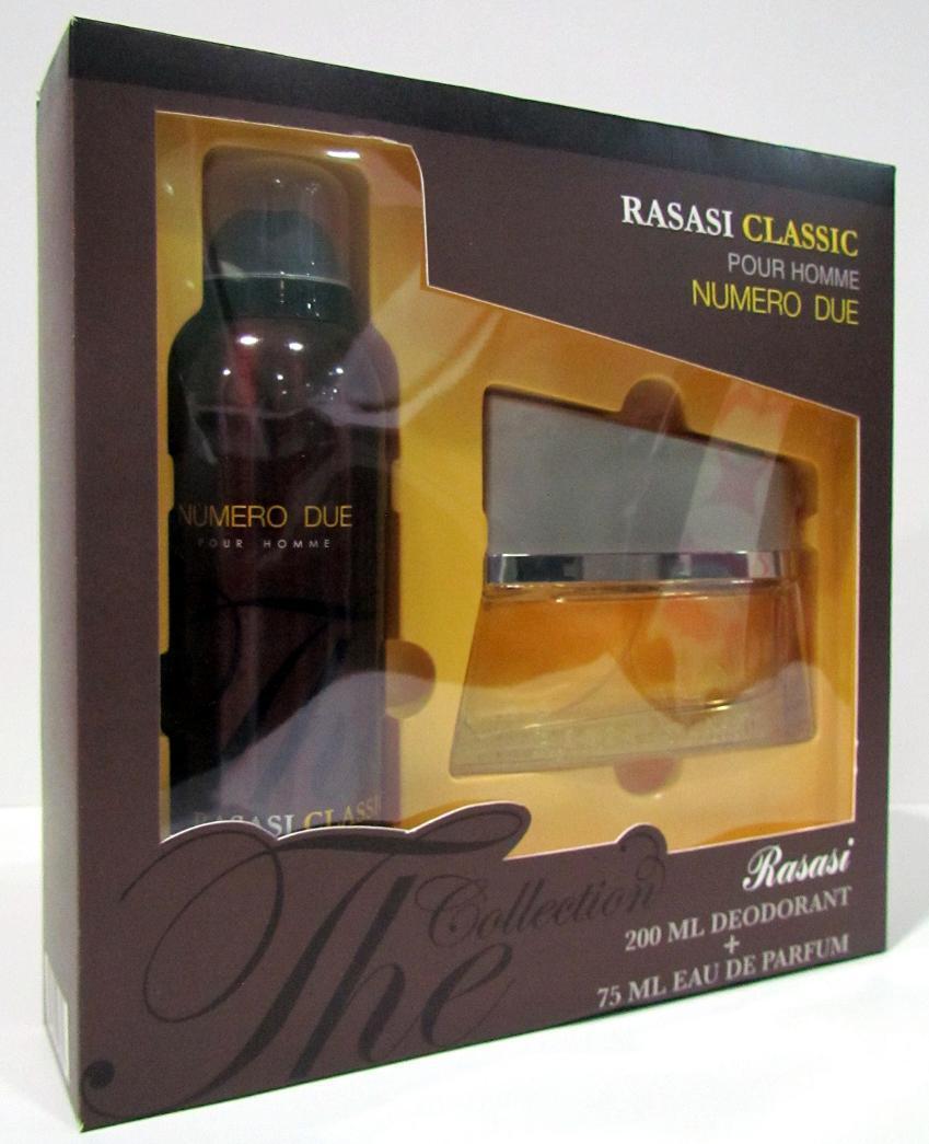 Rasasi Gift Set - Numero Due + Deo Spray For Men 75+200ml