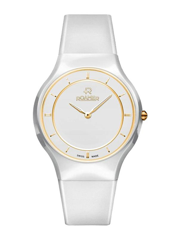 Roamer Ceraline Passion with White/Gold Dial Women's Watch 683830 48 25 06