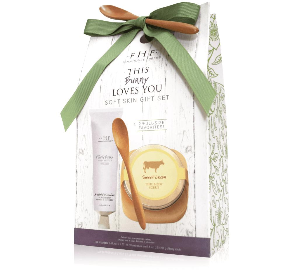 Farmhouse Fresh This Bunny Loves You Gift Box - Fluffy Hand Cream + Sweet Cream Scrub