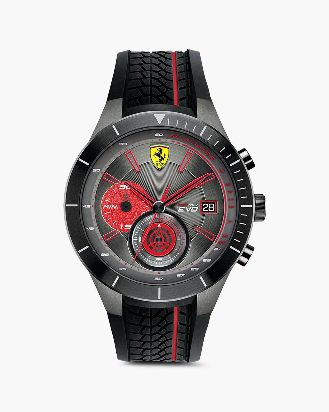 Ferrari Men's Rubber Chronograph Watch 830341