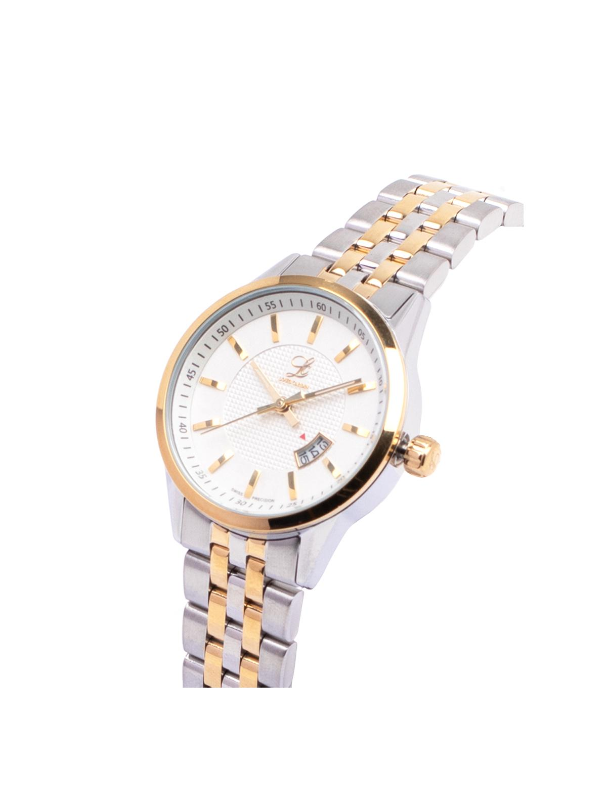 Louis Cardin Stainless Steel Silver Gold White Butterfly Buckle Watch For Women 8823L(3)