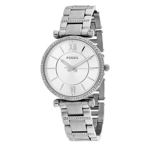 Fossil Carlie Women Stainless Steel Silver(ES4341)