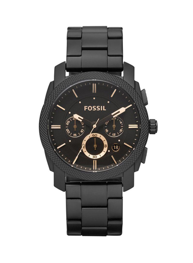 Fossil Machine Men Stainless Steel Black(FS4682)