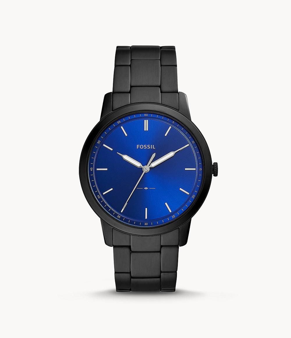 Fossil The Minimalist 3H Men's Blue Dial Stainless Steel Analog Watch - FS5693