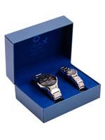 OmaxHBJ,HSA,HSJ HEAVY BAND Stainless steel 42 mm Black Watch For Unisex (PAIRS)