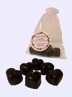 Heart Melt Candles Pure Soy Wax Melts(Pack of 6 heart shaped melts of 10 g each)-Amber Oud Scented