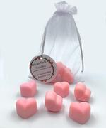 Heart Melt Candles Pure Soy Wax Melts(Pack of 6 heart shaped melts of 10 g each)-Romantic Rose Scented