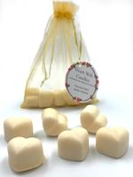Heart Melt Candles Pure Soy Wax Melts(Pack of 6 heart shaped melts of 10 g each)-White Jasmine Scented