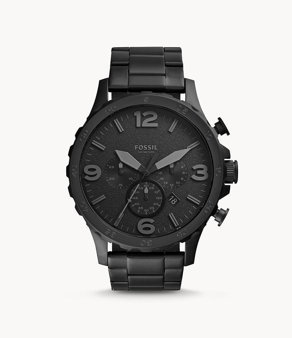 Fossil Men's Nate Stainless Steel Chronograph Quartz Watch JR1401