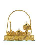 Golden Handled Glass Bukhoor Luxury Set