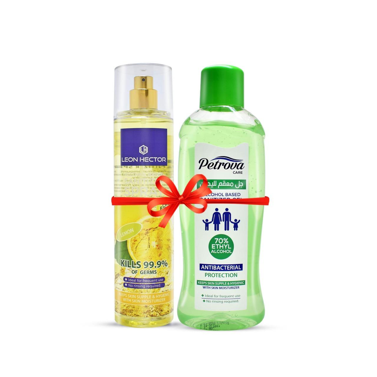 Sanitizer Gel 1000ML & Spray Lemon 250ML