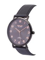 Omax DX Gents Leather Stainless steel Black 48 mm Watch For Men