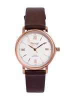 Omax DX Ladies Leather Stainless steel White 32 mm Watch For Women