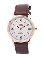 Omax DX Gents Leather Stainless steel White 48 mm Watch For Men