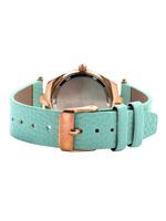Omax CECT Ladies Leather Stainless steel Turquoise 29 mm Watch For Women