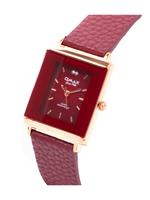 Omax CECT Ladies Leather Stainless steel Purple 29 mm Watch For Women