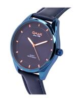 Omax PR Gents Leather Stainless steel Dark Blue 42 mm Watch For Men