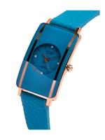 Omax CECT Ladies Leather Stainless steel Turquoise 22 mm Watch For Women