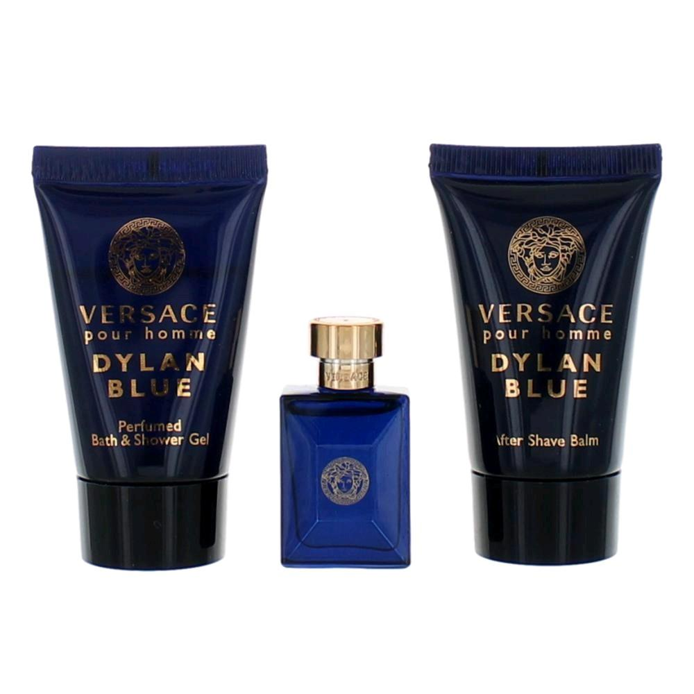 Versace Pour Homme Dylan Blue for Men Eau De Toilette 50ML Set