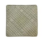 Taupe Diamond Shaped Quilted Cushion Cover