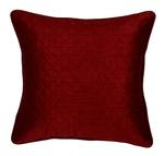 Square Poly Silk Checked Maroon Cushion Cover