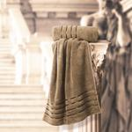 THE ROMAN HAND TOWEL BROWN