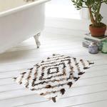 Bathmat S2156 Ikat White & Brown