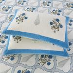 ASSORTED COTT PATCH JALL - BLUE BED COVER