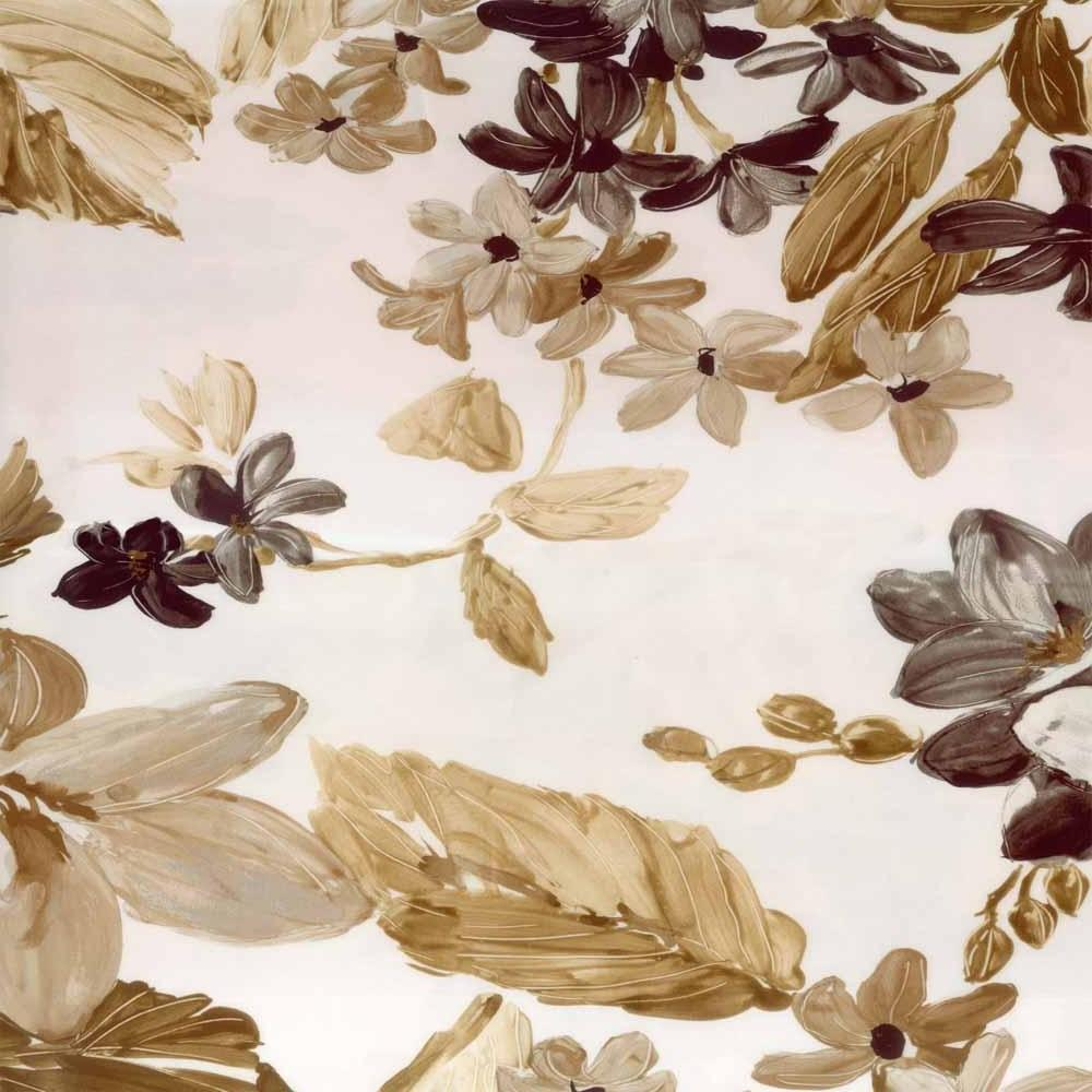 EVA FLORAL SILKY SATIN COFFEE