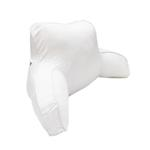 Milky White Back Cushion With Cover