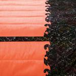 H398 Q.D.5194 RADISH/BROWN BED COVER