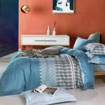 Four Season Modern Printed Double Bedsheet Aqua & Grey
