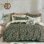 Four Season Floral Printed Double Bedsheet Choco