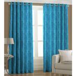 Ready Made Eyelet Aqua Curtain