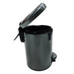 Leman Metallic Black Pedal Bin