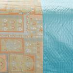 VELOX JAMAWAR Q.812 AQUA/PURPLE BED COVER