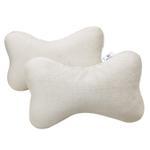 Bone Shape Neck Cushion Beige