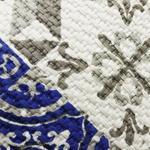 Coastal Blue Cotton Block Print Cushion Cover