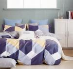 Four Season Triangle Printed Double Bedsheet Multicolor