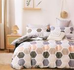 Four Season Geometrical Printed Double Bedsheet Multicolor