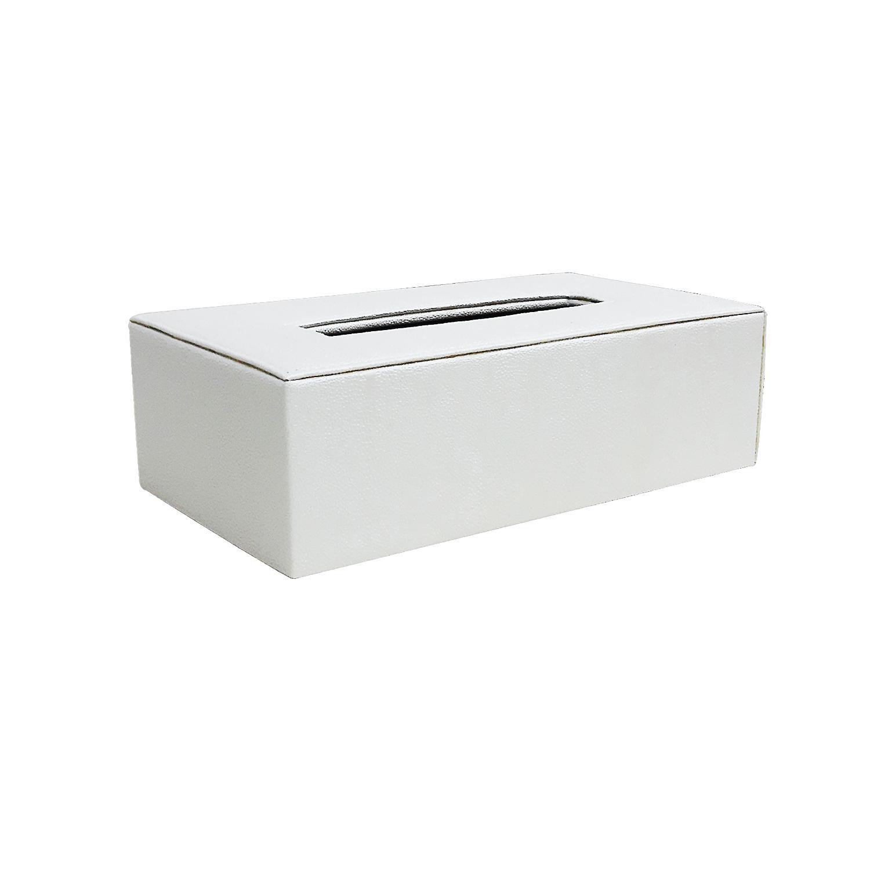 JS TISSUE BOX WHITE