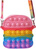 Bubble Pops Pink Burger Fidget Shoulder Bag