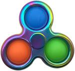 Spinner with Pop It-Violet