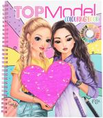 Top Model Coloring Book With Sequins