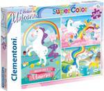 Clementoni - Super Color Puzzle I Believe In Unicorns 3X48 Pcs