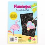Flamingos Scratch Art Set