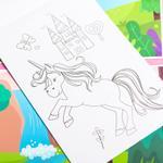 Unicorns Puffy Sticker Set