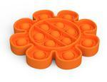 Bubble Pops- Orange Flower Fidget Toy