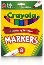 Crayola 8pcs Bold Broad Line Marker