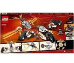 LEGO 71739 Ninjago Legacy Ultra Sonic Raider 4in1 Vehicle Building Set with Motorbike and Plane Toy